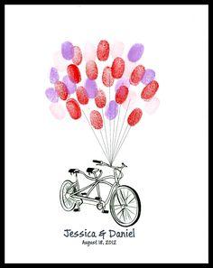 Wedding Fingerprint Guest Book - Buy Vintage Bicycle | Guest Tree