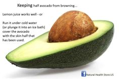 Keep Avocado longer... /#Natural#Sunshine#Favorite#Alternative#Medicine#Health#Beauty#New#food