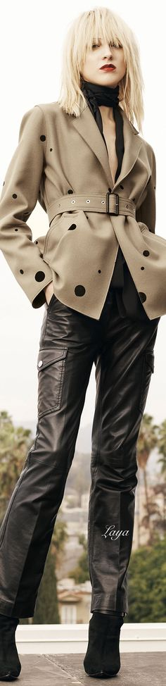 Costume National Pre-Fall 2015 - jacket; no buttons, belted