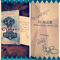 So excited about my beautiful book, ST!!! Thanks so much! @ST Bende #stbende #elskersaga #teamull #elsker #bookworm #love