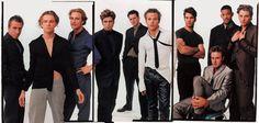 APRIL 1996: «BOYS' TOWN» Tim Roth, Leonardo DiCaprio, Matthew McConaughey, Benicio Del Toro, Michael Rapaport, Stephen Dorff, Johnathon Schaech, David Arquette, Will Smith and Skeet Ulrich.