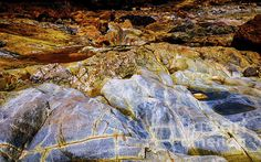 Nature Rocks Series by Lexa Harpell. Coloured rocks of Trial Harbour, Tasmania.