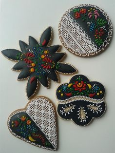 Beautifully decorated Hungarian cookies