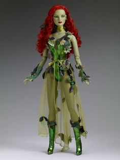 "22"" POISON IVY: This doll is the prettiest bad girl. I think of ""Batman and Robin"" (1997), when I see this, Uma Thurman played P.I. in that movie. Her costume wasn't nearly as pretty as this doll's costume is. Jmo #tonnerscavengerhunt - visit to grab an unforgettable cool 3D Super Hero T-Shirt!"