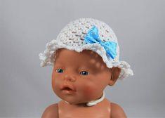 Hoedje haken, gratis patroon / Blog   Nappi.nl Baby Annabell, Baby Born, Crochet Hats, Beanie, Dolls, Sewing, Blog, Lisa, Fashion