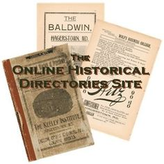 The Online Historical Directories Site: city, county, rural, business, Masonic, and other historical directories transcribed or digitized online at free and subscription sites. #genealogy