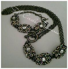 """Handmade vintage inspired necklace and bracelet, steampunk, unique, ooak, original design, gift for her, 22"""" Necklace & 7 1/2"""" bracelet"""