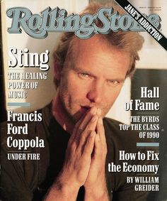 Sting. Rolling Stone mag
