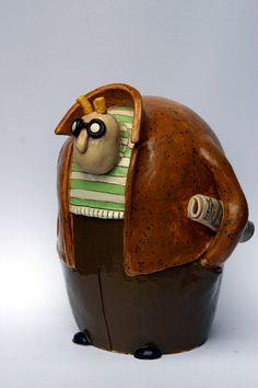 Man with paper!! #sculpture #art #cartoon #ceramic Ceramic Figures, Ceramic Art, Pottery Techniques, Paperclay, Polymer Clay Crafts, Ceramic Sculptures, Sculpture Art, Clay Art, Needle Felting