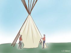 How to build a teepee in 12 detailed steps