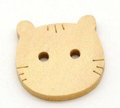 10 Bottoni in Legno a Forma di Gatto - 2 fori - 20 mm Wooden Crafts http://www.amazon.it/dp/B01BLDD5LA/ref=cm_sw_r_pi_dp_UYFVwb1CFCXAB
