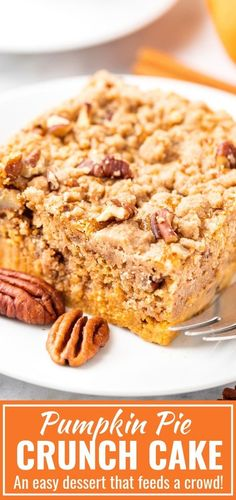 Pumpkin Crunch Cake is the perfect fall dessert for a crowd that can be made in minutes and is a great alternative to traditional pumpkin pie With minimal effort and. Pumpkin Crunch Cake, Easy Pumpkin Pie, Pumpkin Dessert, Pumpkin Recipes, Fall Recipes, Pumpkin Spice, Pumpkin Pumpkin, Easy Pie, Christmas Recipes