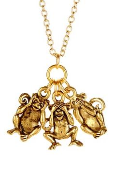LEILA Monkey Charm Necklace
