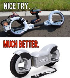 making a #skatecycle electric? better try the new #electric #skateboard