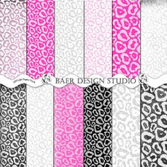 A fun twist on animal print papers-shabby chic cheetah with a touch of metallic!