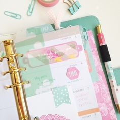 Moving into my light teal #ColorCrush and made a pretty little cloud page…