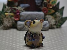 Mademoiselle Beatrice... lampwork mouse bead... by DeniseAnnette