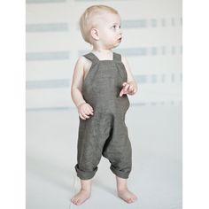grey linen overalls