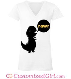 Rawr Dino Speak tee from Customized Girl