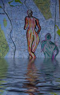 ARTES, DESARTES E DESASTRES CONTEMPORÂNEOS. Maratonistas enfrentam tudo! Técnica mista: desenho com hidrocor e interf. digital sobre papel