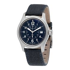 Hamilton Khaki Field Quartz 38 Canvas Mens Watch H68201943 https://www.carrywatches.com/product/hamilton-khaki-field-quartz-38-canvas-mens-watch-h68201943/  #hamilton #hamiltonwatch #hamiltonwatches #menswatches #women - More Hamilton mens watches at https://www.carrywatches.com/shop/wrist-watches-men/hamilton-watches-for-men/