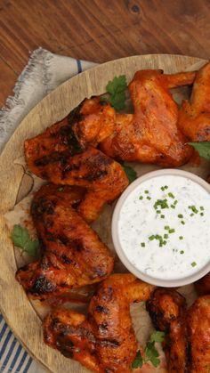 Buffalo wings with homemade ranch? Grill those babies up!