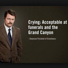 """Goodbye Ron Swanson, I'll miss all of your sage advice @nbcparksandrec #parksandrec #parksfarewell #ronswanson #bertmacklin #lilsebastian"""
