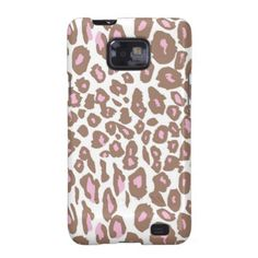 Pink and Brown Leopard Print Galaxy S2 Cover