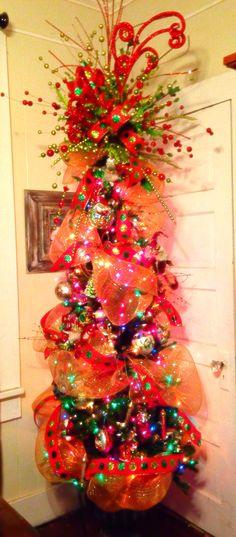 Whimsical Christmas Tree Topper, Christmas Tree Topper Bow ...