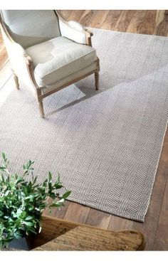 $5 Off when you share! Rugs USA Chalet Herringbone Cotton Flatwoven Grey Rug
