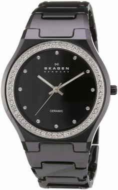 Skagen Women's 813LXBC Ceramic Black Ceramic Crystal Watch Skagen. $104.94. Ceramic case. Black dial. Black ceramic bracelet. Water-resistant to 30 m (100 feet). Quartz movement