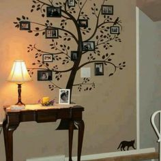 Love this idea for the family room!