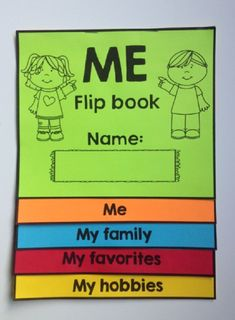 This All about Me Flip Book is a great way to get to know your students. It's perfect for Back to School. This self-reflection booklet will allow your students to share information about themselves. Flip books are so much fun and students can be creative. All About Me Preschool, All About Me Activities, Back To School Activities, Primary Teaching, Teaching Resources, Teaching Ideas, Beginning Of The School Year, First Day Of School, Five Senses Preschool