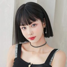 Bobbed Hairstyles With Fringe, Bob Hairstyles, Black Shorts, Wigs, Hair Styles, Clothes, Products, Fashion, Hair Plait Styles