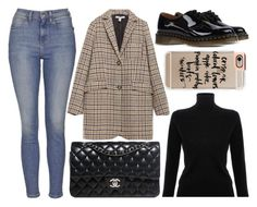 """""""street style"""" by sisaez ❤ liked on Polyvore featuring Topshop, Victoria, Victoria Beckham, Zara, Chanel, Dr. Martens, Casetify, women's clothing, women, female and woman"""