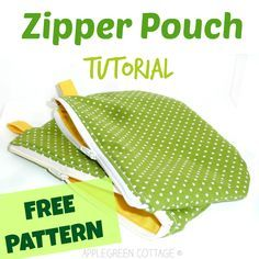 zippered pouch tutorial with a free pattern - You can't have enough zippered pouches. They are my favorite items to sew, and they make perfect holiday gifts. Follow this easy, step-by-step tutorial and sew one of these beauties yourself!