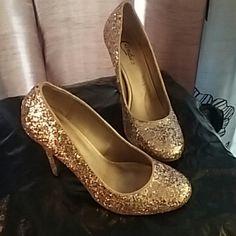 Gold Glitter Heels Gold Glitter Heels Shoes Heels