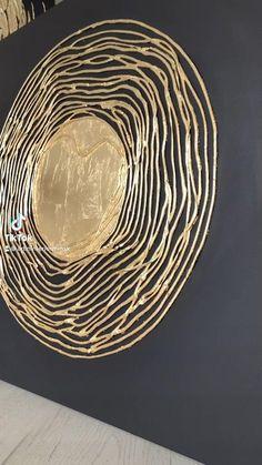 Art Studio Design, Wall Design, Diy Wall Art, Diy Art, Fabric Painting, Diy Painting, Embossing Techniques, Creation Deco, Texture Art