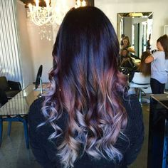 #erinshanley #hairdressing #balayage purple colour fade