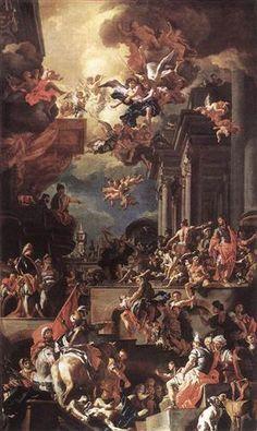 Le massacre des Giustiniani à Chios - Francesco Solimena