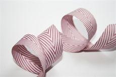 Show details for 20mm Twill Stripe MAUVE / WHITE
