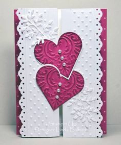 Double Z-Fold Valentine - front by labullard - Cards and Paper Crafts at Splitcoaststampers
