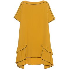 HILFIGER COLLECTION Boca Chica Yellow // Flared midi dress (€179) ❤ liked on Polyvore featuring dresses, summer cocktail dresses, flared skirt, special occasion dresses, midi cocktail dress and midi dresses