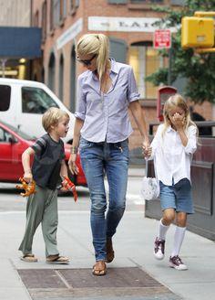 Gwyneth Paltrow Celebrates 39 With a Birthday Stroll Alongside Apple and Moses