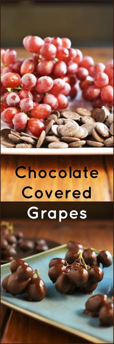 Chocolate Covered Grapes make the perfect healthy and delicious snack!