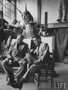bryanpresley:  Cantinflas y Diego Rivera para la revista Life.                                                                                                                                                     Más