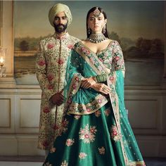 Image may contain: 2 people, people standing Indian Bridesmaid Dresses, Indian Dresses, Indian Outfits, Indian Clothes, Designer Bridal Lehenga, Bridal Lehenga Choli, Indian Men Fashion, Asian Fashion, Indian Bridal Wear