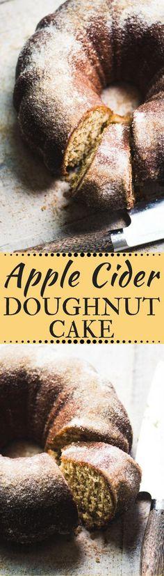 Apple Cider Doughnut Cake ~ a warm cinnamon apple bundt cake that tastes just like the iconic apple cider doughnuts you love. #cake #ciderdoughnuts #poundcake #bundtcake #cidercake #applecake #bestapplecake #dessert #fallrecipe #recipe #fall #apples #bestbundtcake