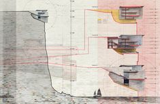 Cliff Retreat Section Study | Visualizing Architecture by Alex Hogrefe