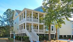 The Donaldson at Hamlin Plantation in Charleston, SC. Charming Charleston home with double front porches and large screened porch. Beautiful marsh view! Save $5000 Now!